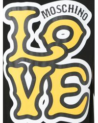 Love Moschino - Black 'love' T-shirt for Men - Lyst