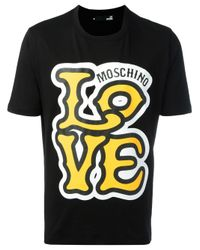 Love Moschino | Black 'love' T-shirt for Men | Lyst