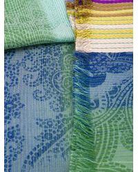 Etro | Multicolor Frayed Trim Scarf | Lyst
