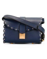 Furla   Blue Barrel Crossbody Bag   Lyst