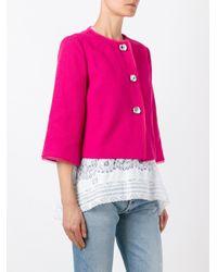 Ermanno Scervino - Pink Cropped Jacket - Lyst