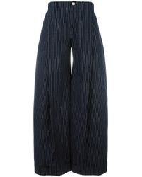 Jacquemus | Blue Striped Palazzo Pants | Lyst
