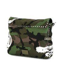 Valentino - Green Garavani Rockstud Messenger Bag for Men - Lyst