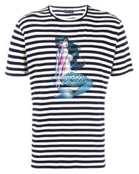 Etro | Blue Striped T-shirt for Men | Lyst