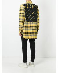 Off-White c/o Virgil Abloh | Yellow Diagonal Spray Check Shirt | Lyst