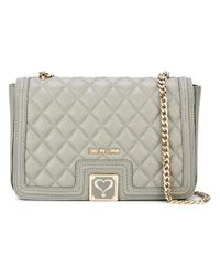 Love Moschino | Green Quilted Shoulder Bag | Lyst