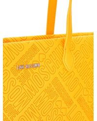 Love Moschino | Yellow Logo Embossed Tote | Lyst