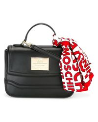 Love Moschino | Black Scarf Detail Tote | Lyst