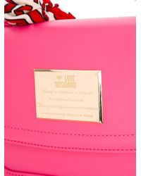 Love Moschino | Pink Scarf Detail Tote | Lyst