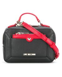 Love Moschino | Black Top Handle Crossbody Bag | Lyst