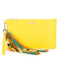 Love Moschino | Yellow Scarf Detail Clutch | Lyst