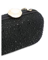 Love Moschino | Black Embellished Clutch | Lyst