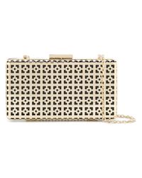 Love Moschino | Metallic Geometric Pattern Clutch | Lyst