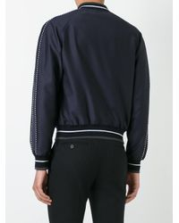 Alexander McQueen - Blue Insignia Bomber Jacket for Men - Lyst