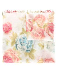 Dondup | Multicolor Rose Scarf | Lyst