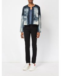 Avant Toi - Blue Cropped Jacket - Lyst