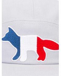 Maison Kitsuné | Gray Embroidered Fox Baseball Cap for Men | Lyst