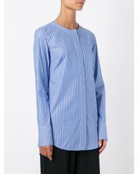 Dondup | Blue Band Collar Shirt | Lyst