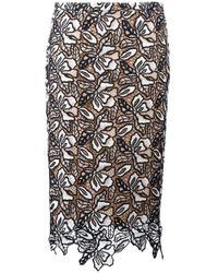 N°21 | Black Macramé Skirt | Lyst