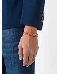 Tod's - Brown Interlaced Leather Bracelet for Men - Lyst
