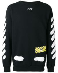 Off-White c/o Virgil Abloh - Black Diagonal Spray Sweatshirt for Men - Lyst