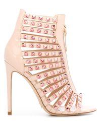 Gianni Renzi | Pink Studded Sandals | Lyst