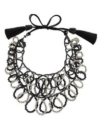 Night Market | Black Beaded Loop Necklace | Lyst