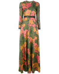 ROKSANDA | Green Floral Maxi Dress | Lyst