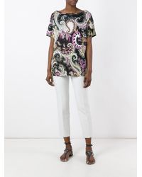 Etro | Black Abstract Print Blouse | Lyst
