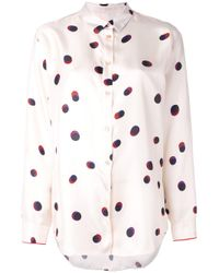 Paul Smith Black Label | Black - Polka Dot Shirt - Women - Silk - 38 | Lyst