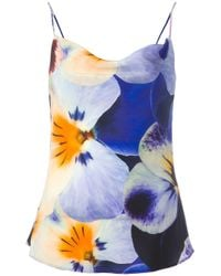 Christopher Kane | Multicolor Pansy Print Top | Lyst