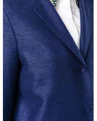 Harris Wharf London | Blue Classic Cocoon Wool Coat | Lyst