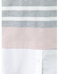 Bogner - Gray Striped Blouse - Lyst