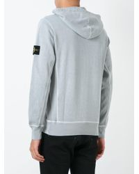 Stone Island | Gray - Pouch Pocket Hoodie - Men - Cotton - S for Men | Lyst