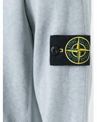 Stone Island - Gray - Pouch Pocket Hoodie - Men - Cotton - S for Men - Lyst