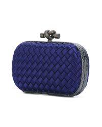 Bottega Veneta | Blue - Clasp Fastening Clutch - Women - Rayon - One Size | Lyst