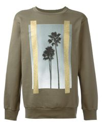 Palm Angels | Green Palm Trees Print Sweatshirt for Men | Lyst