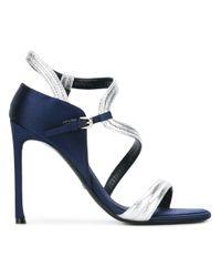Dior | Blue - Open Toe Sandals - Women - Goat Skin/leather - 35 | Lyst