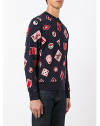Paul Smith - Blue Embroidered Patch Sweatshirt for Men - Lyst