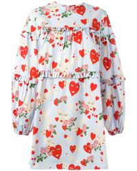 Vivetta | Blue Hearts Print Shift Dress | Lyst