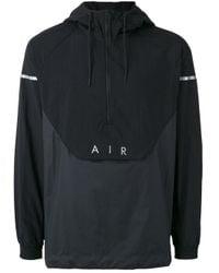 Nike | Black Hooded Wind Breaker Jacket for Men | Lyst