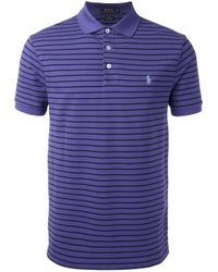 Polo Ralph Lauren - Blue Striped Polo Shirt for Men - Lyst