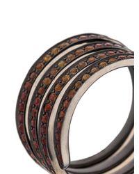 Lynn Ban - Metallic Sapphire Coil Ring - Lyst