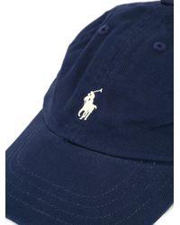 Polo Ralph Lauren | Blue Logo Embroidered Cap for Men | Lyst
