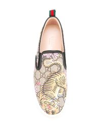 Gucci - Multicolor - Bengal Blooms Print Plimsolls - Women - Leather/rubber - 35.5 - Lyst