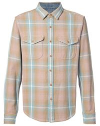 Outerknown - Brown Heavy Checked Shirt for Men - Lyst