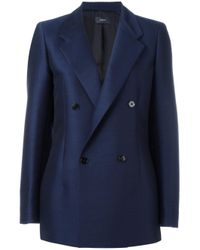 JOSEPH | Blue Double-breasted Jacket | Lyst