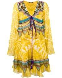 Roberto Cavalli - Yellow Layered Shift Dress - Lyst