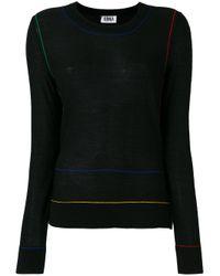 Sonia by Sonia Rykiel | Black - Round Neck Jumper - Women - Acrylic/wool - Xl | Lyst