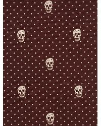 Alexander McQueen - Red Polka Dot Skull Tie for Men - Lyst